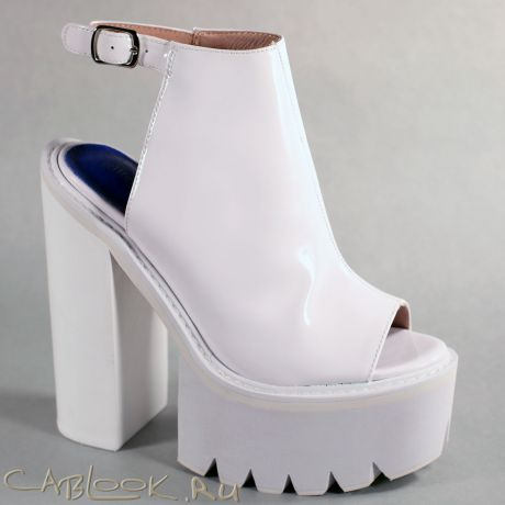 Jeffrey Campbell Jeffrey Campbell стильные сабо женские BARCLAY white
