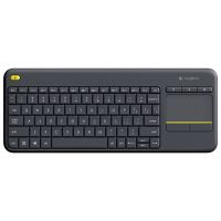 Клавиатура Logitech Wireless Touch Keyboard K400 Plus черная (920-007147)