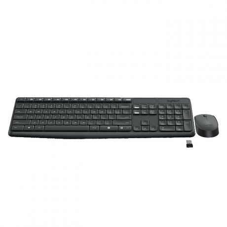 Клавиатура+мышь Logitech Wireless Desktop MK235 Black USB