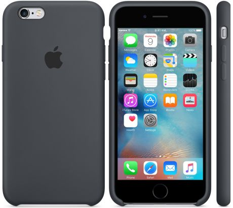 Чехол для Apple iPhone 6 / iPhone 6s Silicone Case Charcoal Gray