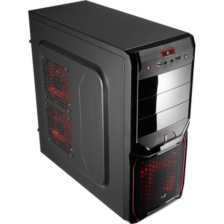 ATX Miditower AeroCool V3X Advanced Devil Red Edition Black/Red