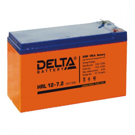 Батарея Delta HRL 12-7.2, 12V 7.2Ah (Battery replacement APC rbc2, rbc5, rbc12, rbc22, rbc32 151мм/94мм/65м)