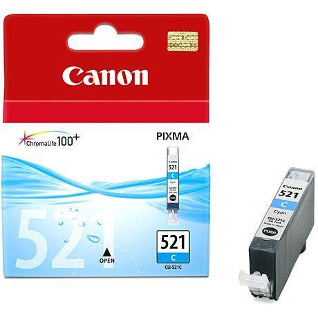 Canon CLI-521C Cyan для Pixma iP3600/4600/MP540/620/630/980