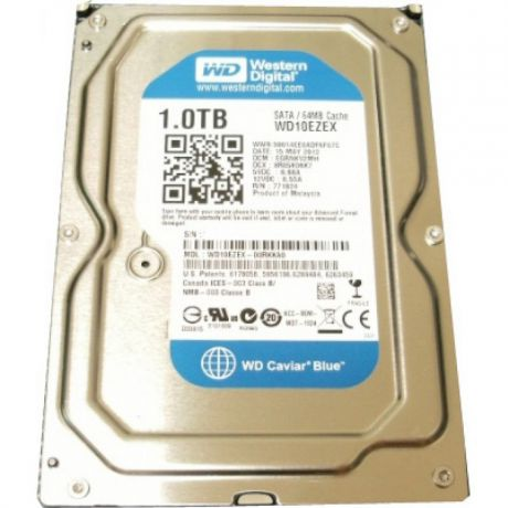 1000Gb Western Digital (WD10EZEX) 64Mb 7200rpm SATA3 Caviar Blue