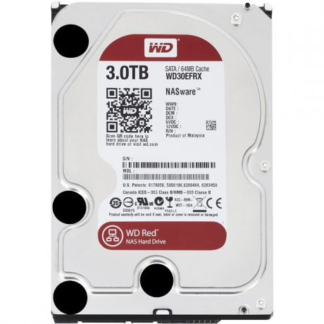 3000Gb Western Digital (WD30EFRX) 64Mb IntelliPower SATA3 Red