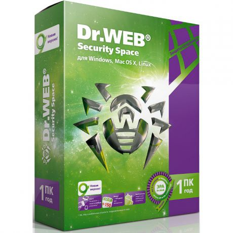 Dr.Web Security Space (1 ПК на 1 год)