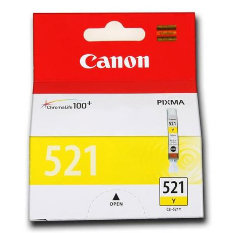 ProfiLine PL- CLI-521Y Yellow для Canon Pixma Ip3600/IP4600/MP540/MP620/MP630/MP980