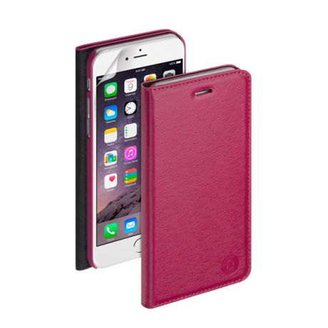 Чехол для iPhone 6 Plus/ iPhone 6s Plus Deppa Wallet Cover PU, фуксия с пленкой