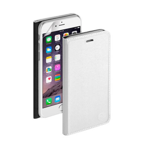 Чехол для iPhone 6 Plus/ iPhone 6s Plus Deppa Wallet Cover PU, белый с пленкой