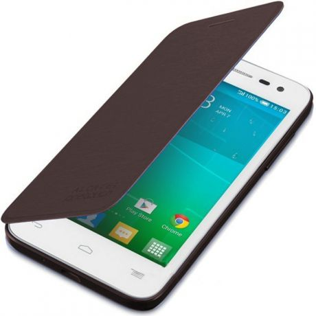 Чехол для Alcatel One Touch POP S3 5050X/Y Alcatel Flip-case шоколадный