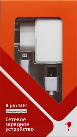 СТМ 8 pin Apple MFI HE 1A White