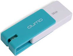 Qumo 16Gb USB 2.0 Click Blue