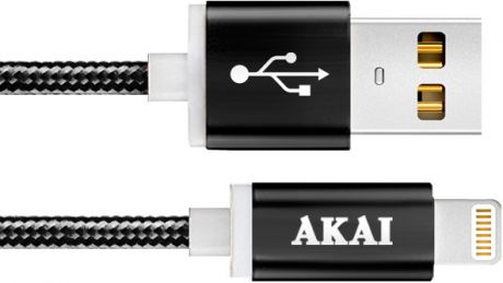 Akai CE-604B USB 2.0 - 8-pin Apple Lighting Black