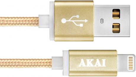 Akai CE-604B USB 2.0 - 8-pin Apple Lighting Gold
