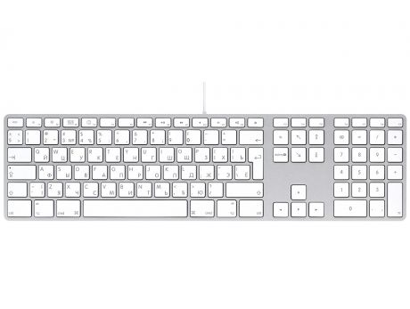 Apple (MB110RU/B) Keyboard with Numeric Keypad проводная White