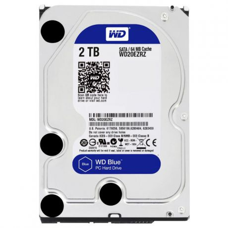 2000Gb Western Digital (WD20EZRZ) 64Mb 5400rpm SATA3 Blue Desktop