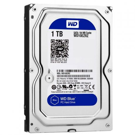 1000Gb Western Digital (WD10EZRZ) 64Mb 5400rpm SATA3 Blue Desktop