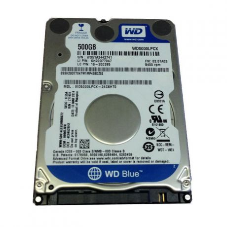 "500Gb 2.5"" Western Digital (WD5000LPCX) 16Mb 5400rpm SATA3 Blue"