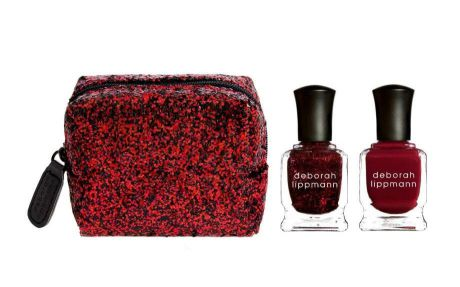 Deborah Lippmann Набор 2 лака и косметичка (Jazz Standards Mini Duet Ruby Red Slippers / Lady Is A Tramp