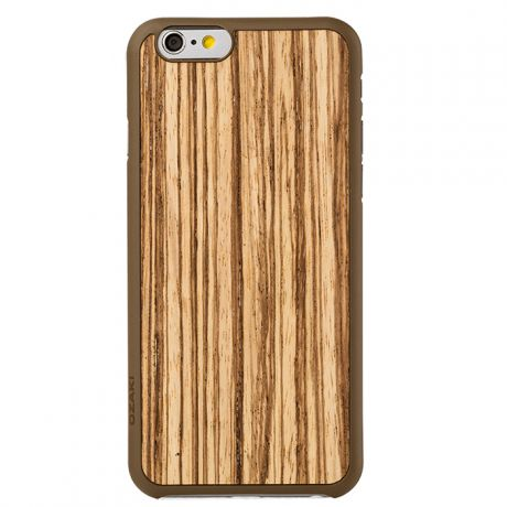 Чехол для iPhone 6 / iPhone 6s Ozaki O!coat 0.3 + Wood Beige Brown