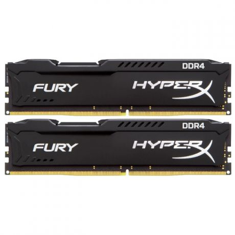 DIMM 8Gb 2х4Gb DDR4 PC21300 2666MHz Kingston HyperX Fury Black Series (HX426C15FBK2/8)